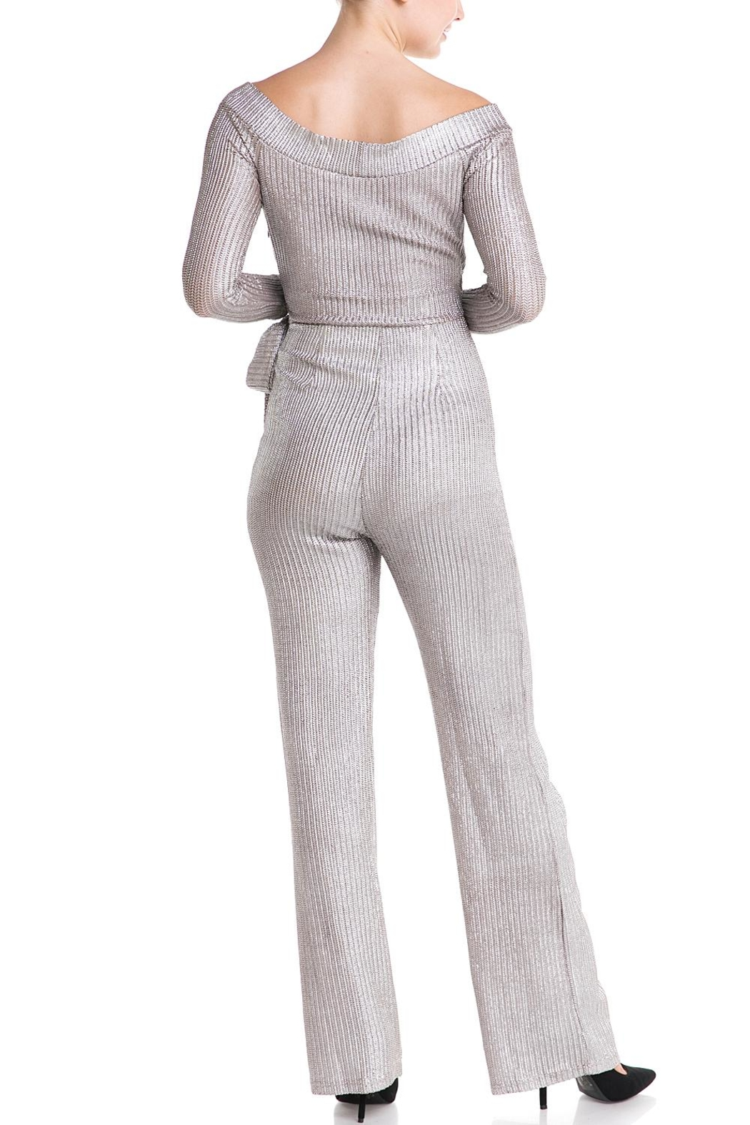 luxxel Tie Sweater Jumpsuit - Side Cropped Image