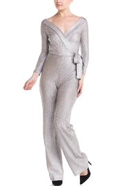 luxxel Tie Sweater Jumpsuit - Front cropped