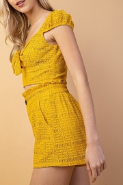 Le Lis Tie Top Mustard - Product Mini Image