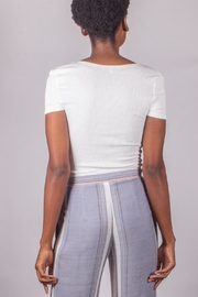 Love Tree Tie Top White - Back cropped