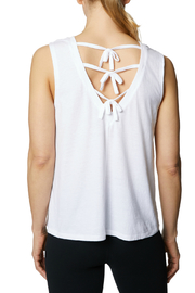 Betsey Johnson Tie Up Back Swing Muscle Tank - Front cropped