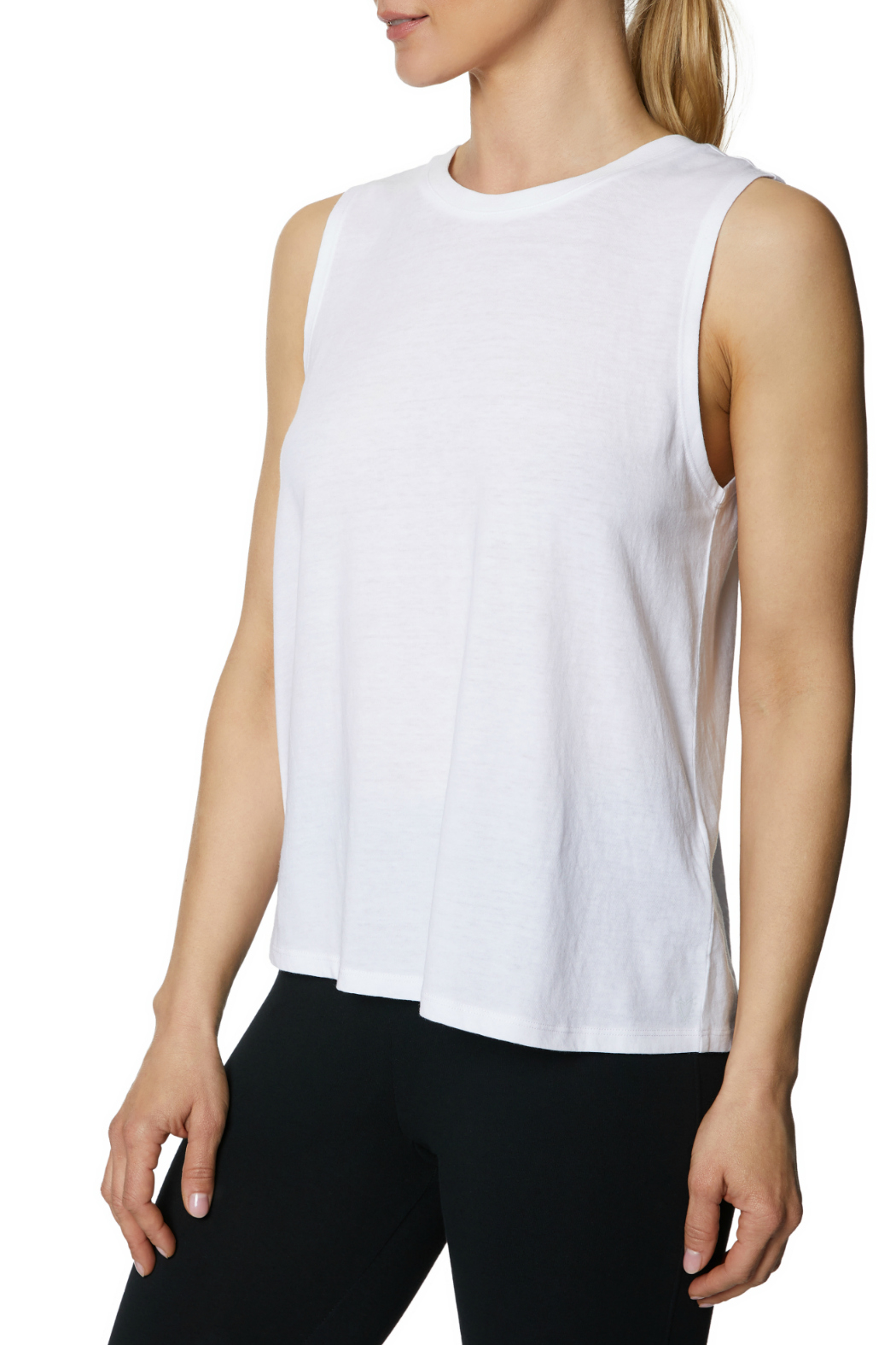 Betsey Johnson Tie Up Back Swing Muscle Tank - Side Cropped Image