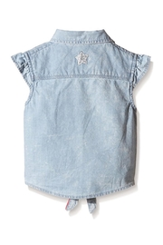 3 Pommes Tie-Up Chambray Shirt - Front full body