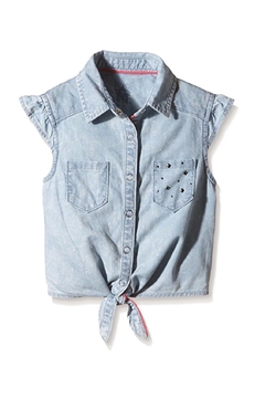 3Pommes Tie-Up Chambray Shirt - Product List Image