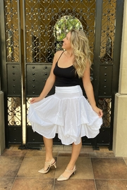Apparel Love tie-up white cotton skirt - Product Mini Image