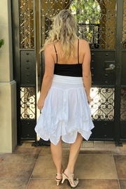 Apparel Love tie-up white cotton skirt - Back cropped