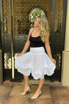 Apparel Love tie-up white cotton skirt - Product List Image