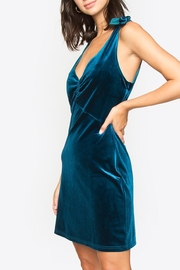 Sugarlips Tie Velvet Dress - Back cropped