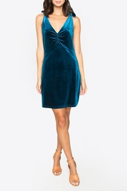 Sugarlips Tie Velvet Dress - Front cropped