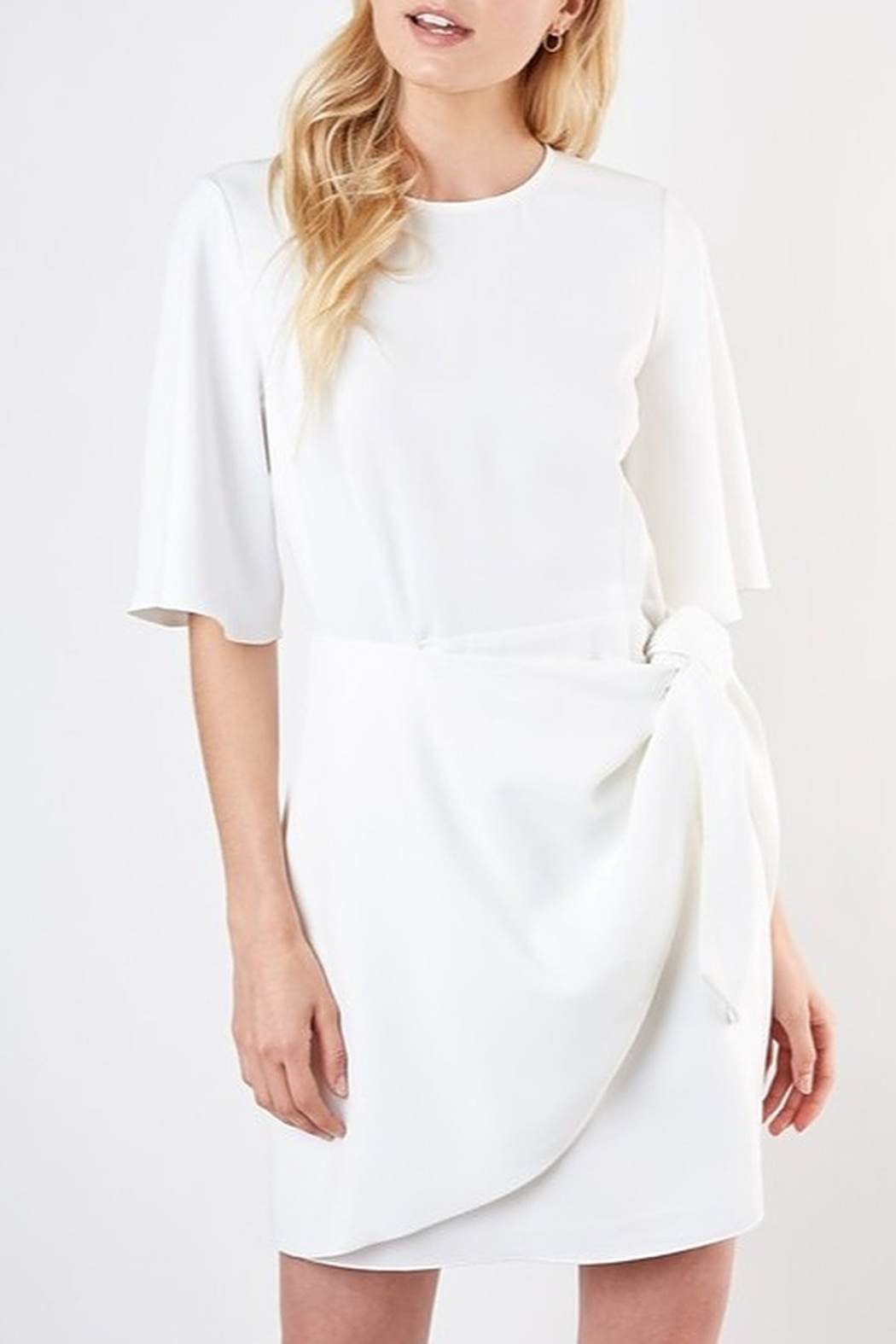Do & Be Tie Waist Dress - Front Cropped Image