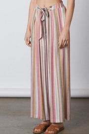 Cotton Candy  Tie Waist Flare Pant - Product Mini Image