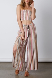 Cotton Candy  Tie Waist Flare Pant - Side cropped