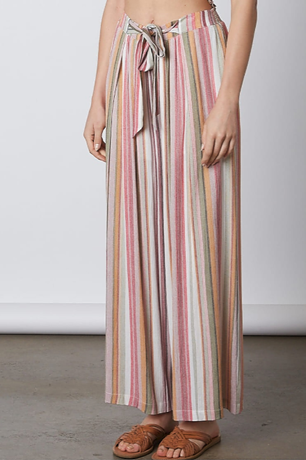 Cotton Candy  Tie Waist Flare Pant - Main Image