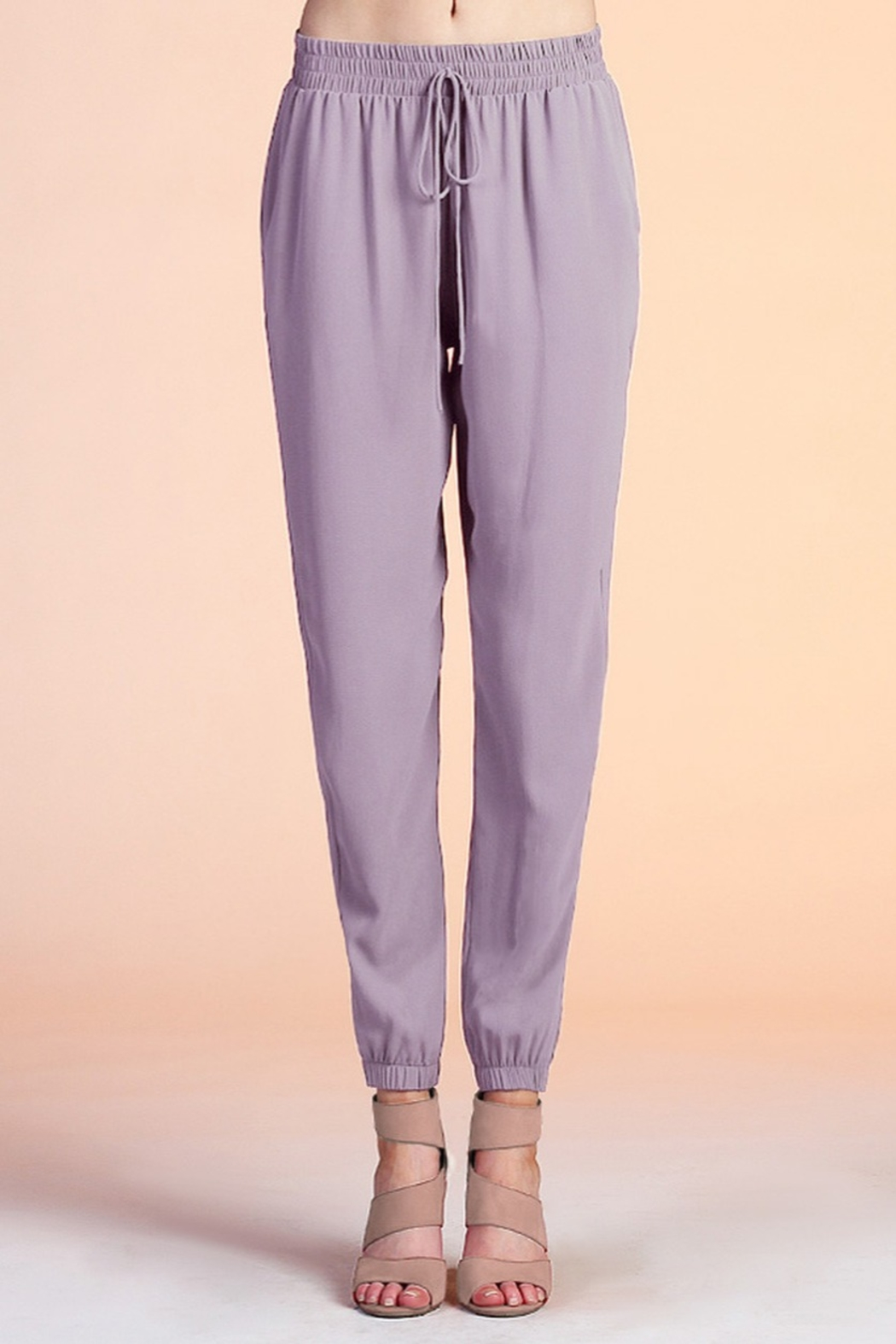 Tyche Tie Waist Jogger - Front Cropped Image