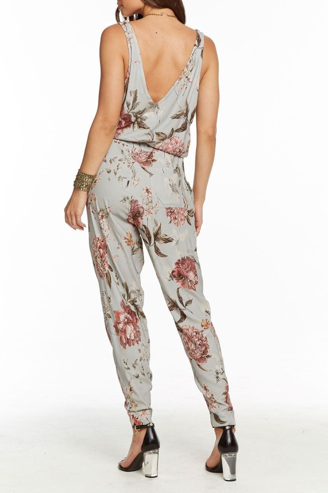 Chaser Tie Waist Jumpsuit - Front Full Image