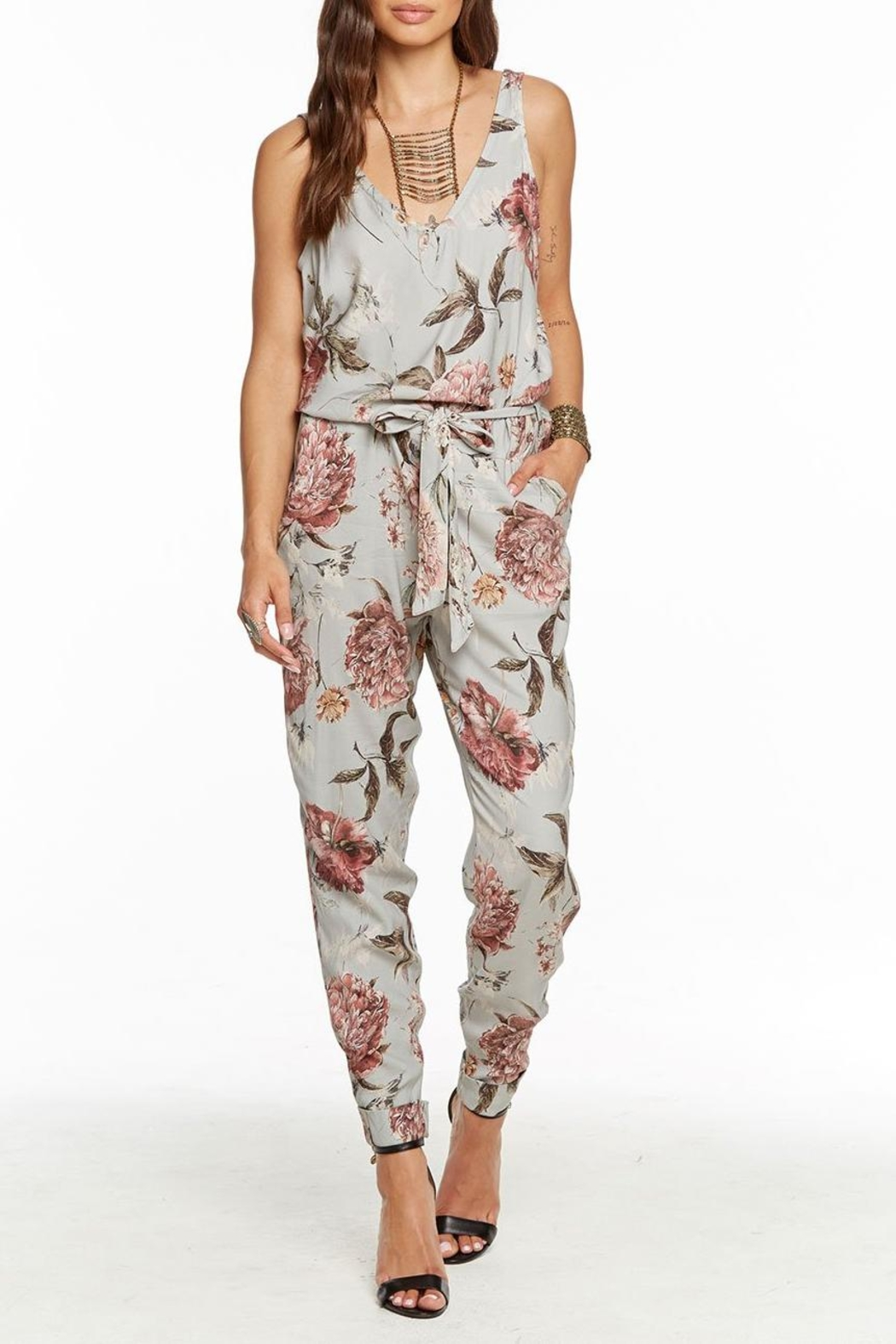 Chaser Tie Waist Jumpsuit - Front Cropped Image
