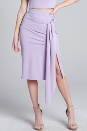 blue blush Tie Waist Midi Skirt - Product Mini Image