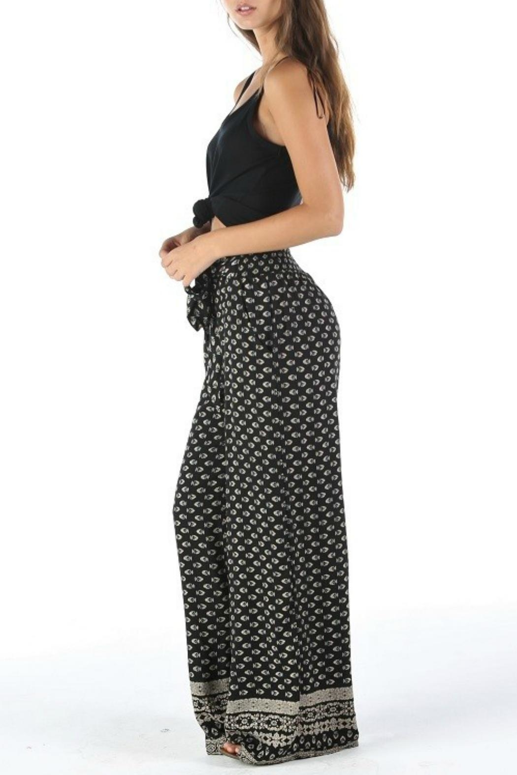 Angie Tie Waist Pant - Front Full Image