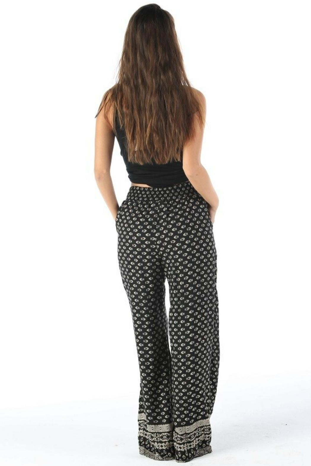 Angie Tie Waist Pant - Side Cropped Image