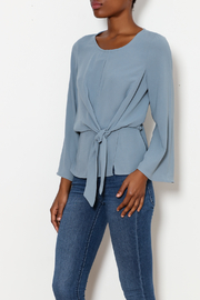 By Together Tie Waist Satin Washed Top - Product Mini Image