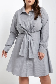 Soprano Tie-Waist Shirt Dress - Product Mini Image