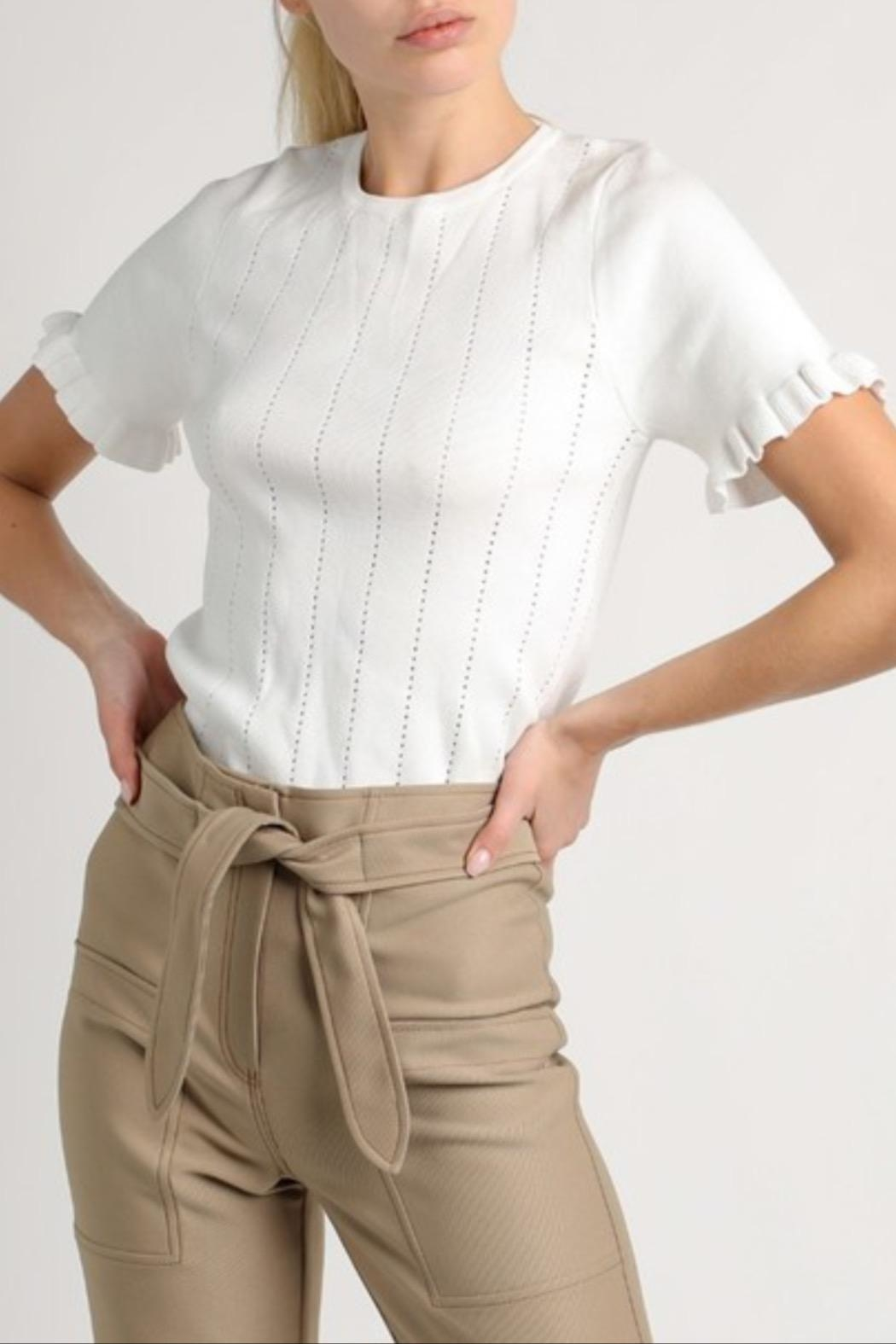 Current Air Tie Waist Shorts - Front Full Image