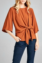 Caramela Tie Waist Top - Product Mini Image