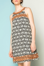 THML Clothing Tieback Embroidered Dress - Product Mini Image