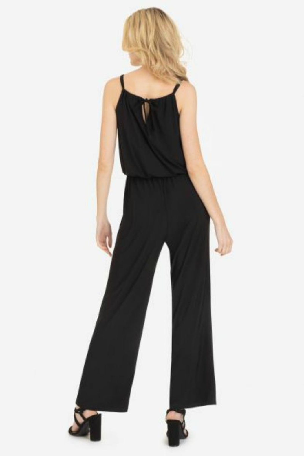 Tribal Tied Halter Jumpsuit - Front Full Image