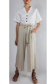Final Touch Tied High-Waisted Linen-Pants - Product Mini Image