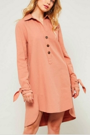 Promesa Tied Shirt Dress - Product Mini Image