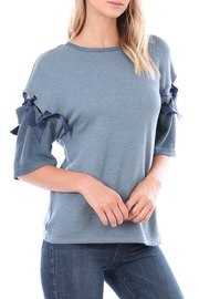 hummingbird Tied Sleeve Top - Product Mini Image