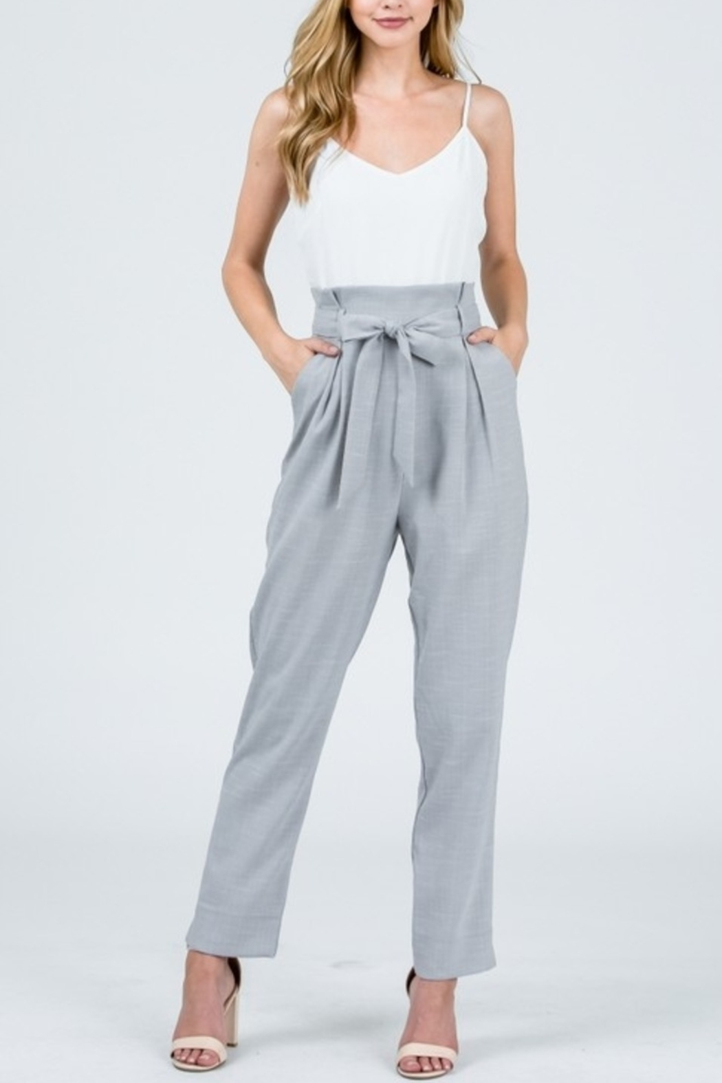 &merci Tied & Tailored Jumpsuit - Front Cropped Image