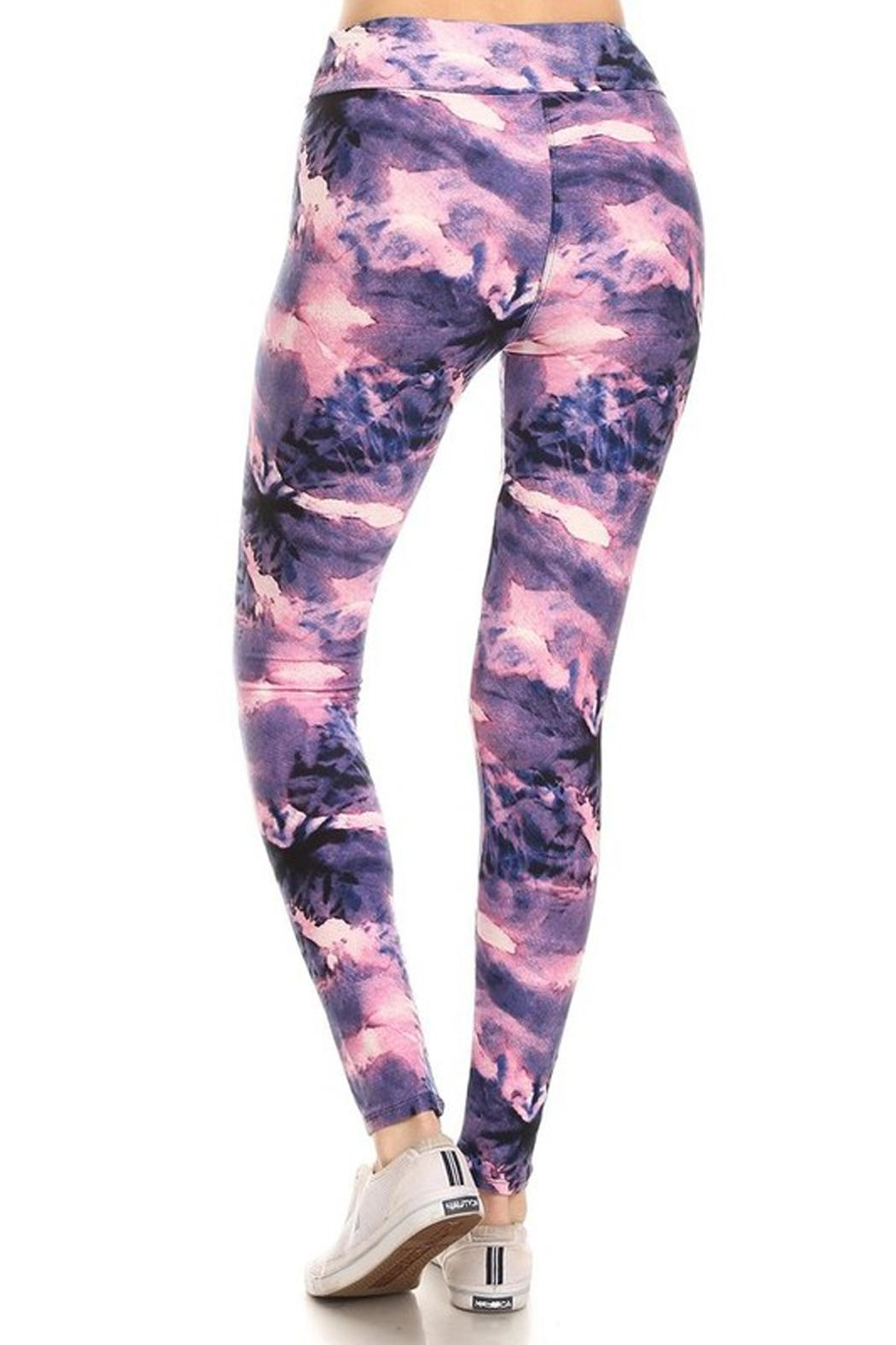 New Mix Tiedye Banded Legging - Front Full Image