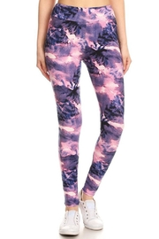 New Mix Tiedye Banded Legging - Front cropped