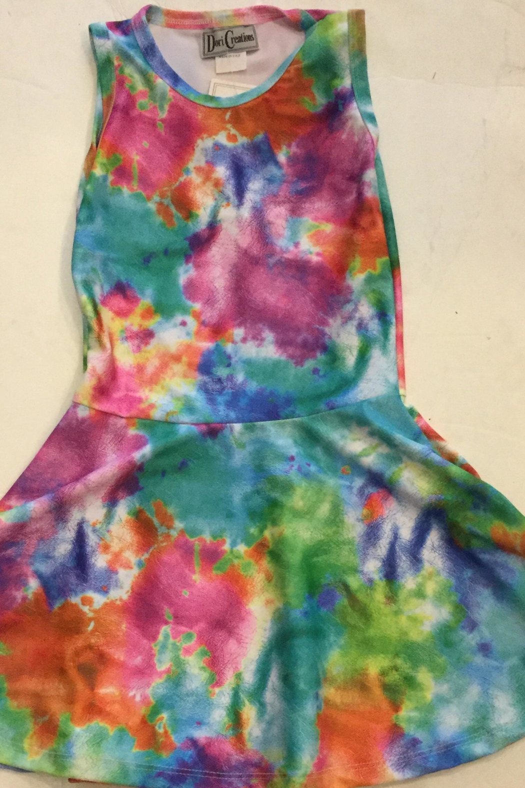 Dori Creations Tiedye Tank Dress - Front Cropped Image