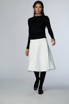 Shoptiques Product: TIER PONTE SKIRT 25 INCH
