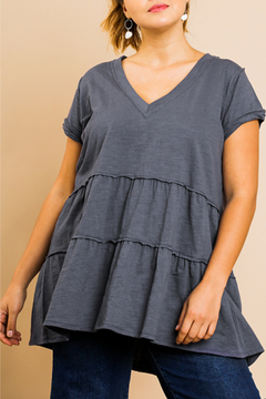 Shoptiques Product: Tiered Babydoll Tunic Curvy