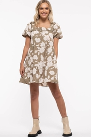 blu pepper  Tiered Back Tie Floral Dress - Product Mini Image