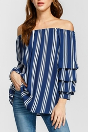 Cherish Tiered Balloon-Sleeve Off-Shoulder - Product Mini Image