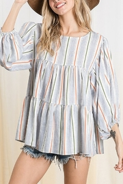 Ces Femme  Tiered Boxy Top - Side cropped