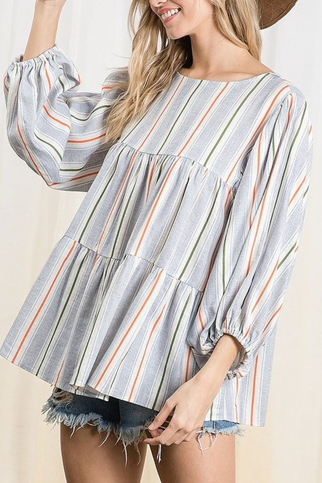 Ces Femme  Tiered Boxy Top - Main Image