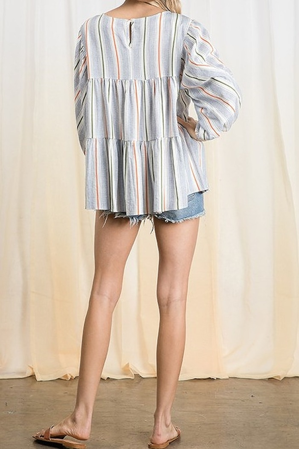 Ces Femme  Tiered Boxy Top - Front Full Image