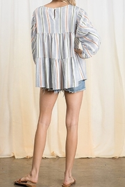 Ces Femme  Tiered Boxy Top - Front full body