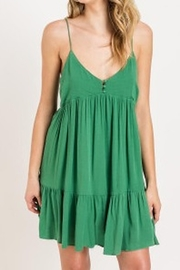 Lush  Tiered Button Dress - Front cropped