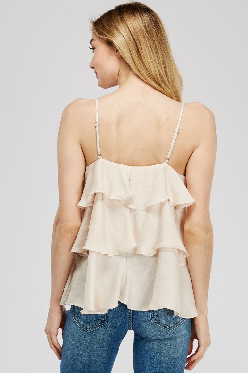 Mustard Seed Tiered Cami Top - Side Cropped Image