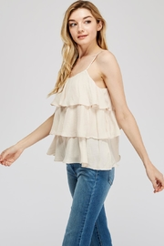 Mustard Seed Tiered Cami Top - Front full body