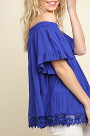 Umgee USA Tiered Cobalt Off-The-Shoulder - Front full body