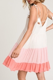 Hem & Thread Tiered Coral Dress - Front full body