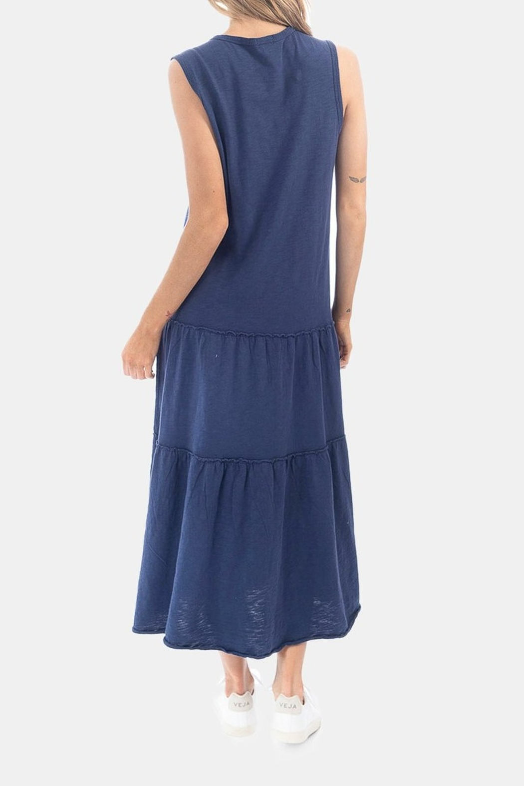 Dylan by True Grit Tiered Crew Dress - Side Cropped Image